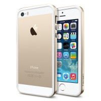 Бампер SGP для iPhone 5S/5 Neo Hybrid EX Slim Metal Champagne Gold