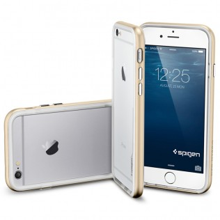 бампер для iPhone 6 Spigen Neo Hybrid EX Series Champagne Gold (золотой)